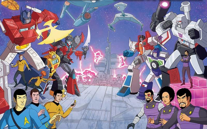 Kirk & Optimus Prime Team Up to Battle Decpitcons & Klingons!