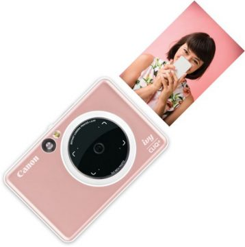 Canon IVY Cliq+ Instant Film Camera - Rose Gold