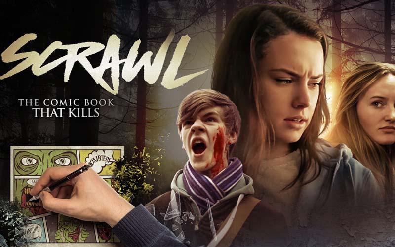 Daisy Ridley VS Killer Comic in 'Scrawl'