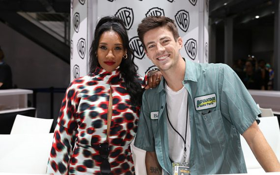 Grant Gustin and Candice Patton