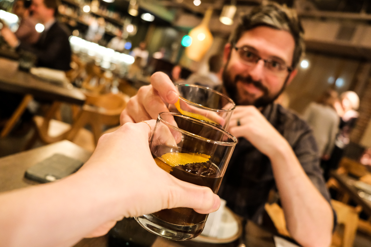 A Toast of Near East Old Fashioneds