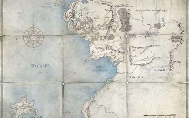 Lord of the Rings Television Series Map
