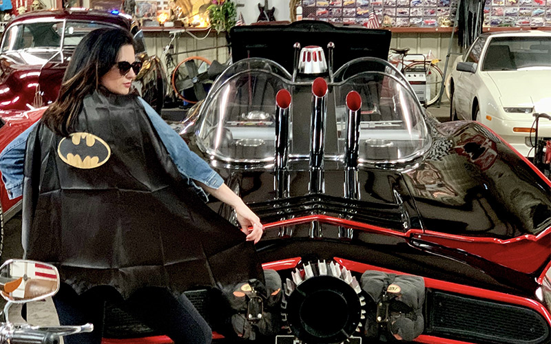Touring the Famous Adam West Batmobile with Owner Aviator Eugene Nock